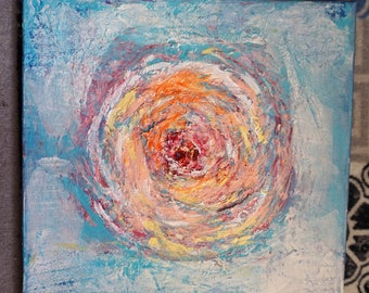 Valentine's Day 23 flower oil painting canvas abstract flower painting abstract painting