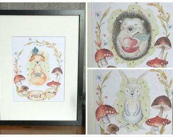 Personalised animal illustration