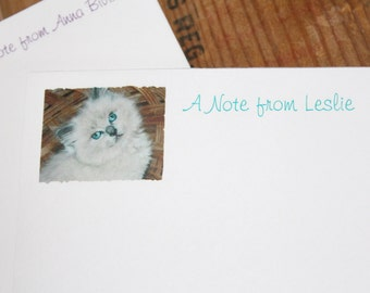 Ragdoll Purebred Cat Kitten or Your Pet's Picture ~ Personalized Notepads Note Pads Note cards Your Cat's Photo