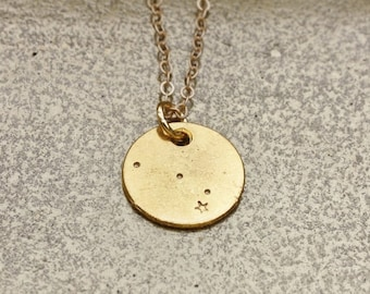 ARIES Constellation, Aries Necklace, Constellation  Necklace, Zodiac Necklace, hand stamped, astrology jewelry, gift jewelry.