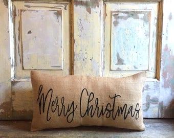 Pillow Cover | Merry Christmas pillow | Christmas pillow | Holiday decor | Christmas decor | Holiday pillow | Farmhouse