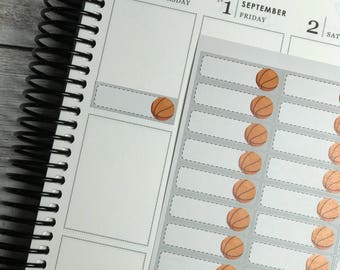 Basketball planner stickers | sports | basketball quarter boxes | AHF014