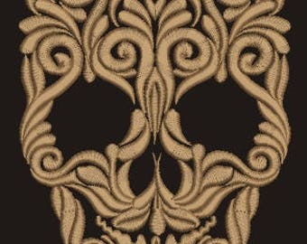 skull Machine Embroidery Designs, instantly download