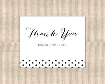 POLKA DOT Thank You Card - DEPOSIT