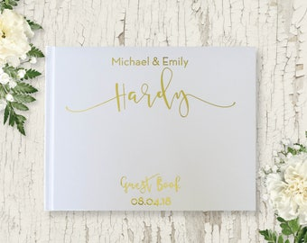 Real Gold Foil Wedding Guest Book, Gold Foil Guest Book, Gold Guest Book, Modern Guest Book, Rose Gold Foil, Gold Foil, Silver Foil Journal