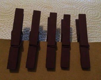 Wild Iris Purple Painted Standard Wooden Clothespins