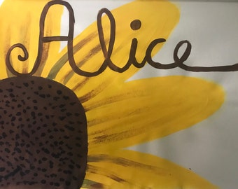 Sunflower picture with name