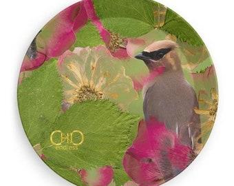 Bohemian/animalier Melamine plate 19 cm diam/Desk Organizer/Boat-Party-BBQ plate/Endless ChiC Svuotatasche animalier Flowers Melamine Plate