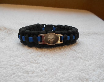 The Punisher Series - Charm # 2B (Vin) - Paracord Bracelet - Hand Made
