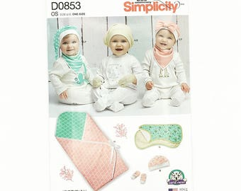 New Uncut Simplicity Patterns Baby Infant Child Girl