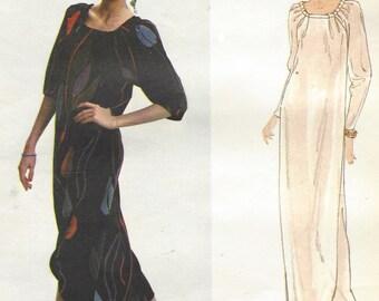 70s Chloe Womens Pullover Dress Tulip Hemline 2 Lengths Vogue Sewing Pattern 2024 Size 12 Bust 34 UnCut Vogue Paris Original Patterns