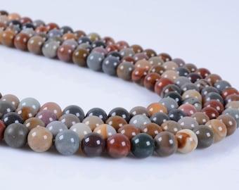 "6MM233 6mm Succor creek jasper round ball loose gemstone beads 16"""