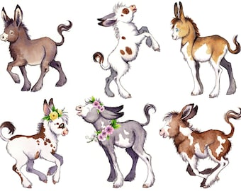 Donkey Stickers Cute Planner Stickers Donkey Farm Animal Stickers Bullet Journal Accessories Adorable Horse Stickers