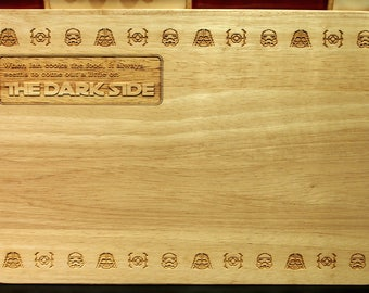 Personalised Star Wars Themed Gift Chopping Board Perfect Geek Housewarming Present