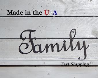 Family, Livingroom Decor, Picture Decor, Family Decor, Indoor/Outdoor Wall Art, Kitchen Decor, House Decor, Metal Sign, Wedding Decor, W1029