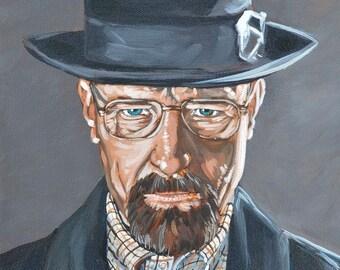 "8"" x 10"" - Breaking Bad inspired Heisenberg print signed by the artist"