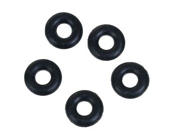 Set of 20 Silicone Stopper black 5mm rubber rings creating pandora charm stoppers