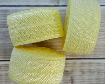 5/8 BABY MAIZE Fold Over Elastic 5 or 10 YARDS