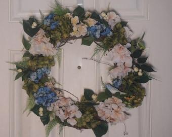 Year Round Wreath, Magnolia Wreath, Door Wreath, Spring Wreath