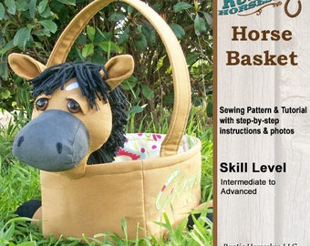 Horse Basket Easter Basket Sewing Pattern and Tutorial