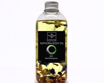 Euphoria Body Oil Natural Organic Spa Massage Hydration Vitamin E 200ml
