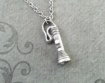 Flashlight Necklace Flashlight Jewelry Flashlight Charm Necklace Flashlight Pendant Survival Gift Survivalist Gift Light Necklace Emergency