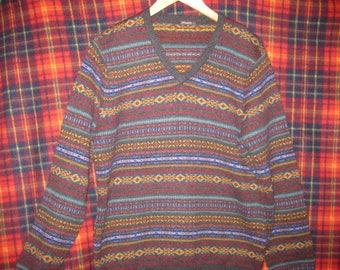 J. McLaughlin Milton fair isle v-neck sweater