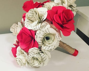 Book Pages Bouquet