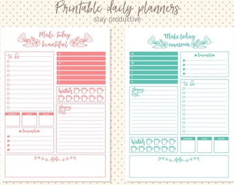 Printable Productive Daily Planner Inserts
