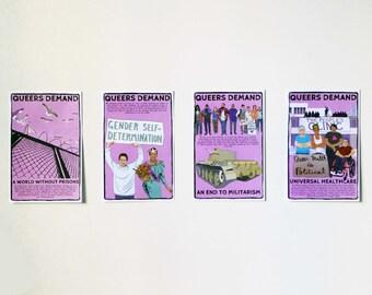 4 Poster Set: Queer Demands