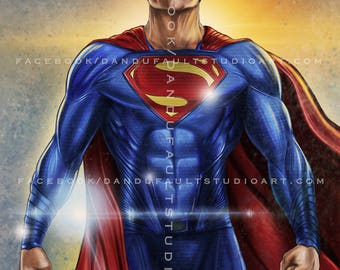 "Superman Dc's 'Justice League' 11x17"" Artist Signed Print"
