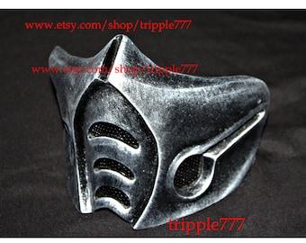 Half cover MORTAL KOMBAT mask, sub zero mask, Airsoft mask, Halloween costume & Cosplay mask, Halloween mask, Steampunk mask MA142