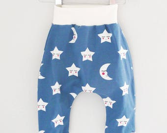 harem baby blue and white stars and moons mixed