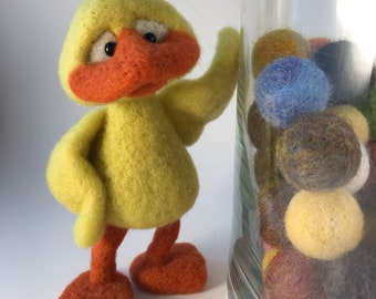 Needle Felted Duck with Attitude