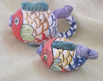 CERAMIC FISH Art Deco Set