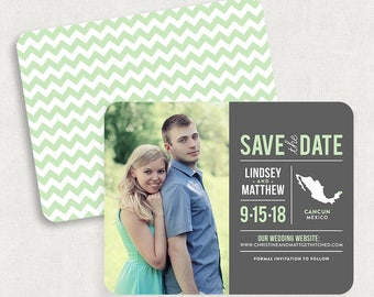 Mexico Save the Dates, State Save the Dates, Photo Save the Date, Printable Save the Date, Printed Save the Dates, PDF, DIY Save the Date