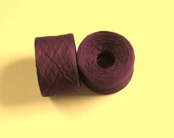 AUBERGINE 100% Silk 3246 yards recycled yarn