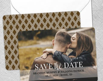 Lasting Love - Wedding Card - Save the Date - Includes Back Side Printing + Envelope