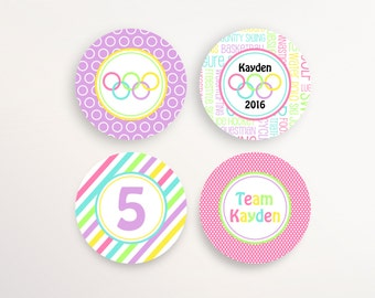 Olympic Party Decorations - Cupcake Toppers