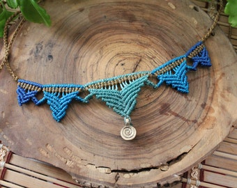 Ethnic necklace macrame