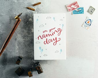 On Your Naming Day Letterpress Card
