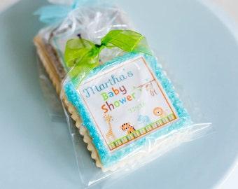 animal jungle baby shower cookie favors-- 1 dozen