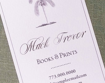 Elegant Palm Tree,Palm,British Colonial Style, Business card, Set of 50