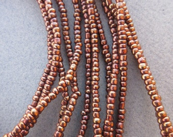 Bronze Glass Beads -6 Strands