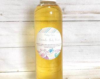 Lavender Body wash, women's body wash, liquid body soap, natural body wash, vegan liquid soap, synthetic fragrance free, Mother's Day gift