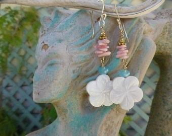 Hawaiian Pua, Plumeria Flower Earrings