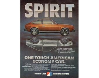 Vintage magazine poster ad of a 1980 AMC Spirit - 21