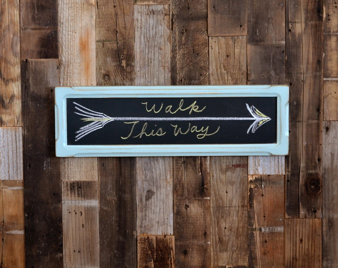Chalkboard with Wood Frame in Homestead Green - Outside Dimensions 5.5 x 18.25 inches - Wedding Signage - IN STOCK - Same Day Shipping
