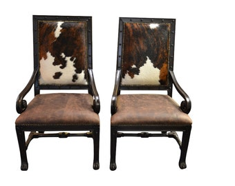 Good Fabulous New, Showroom Sample Cowhide, Leather Armchair, 2 Available, 495  Per Chair