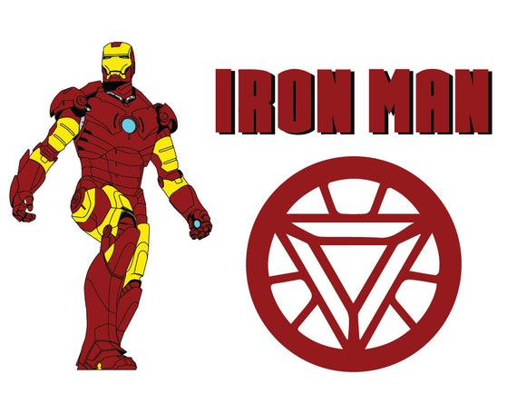 Iron man SVG Superhero svgIronman Clip Art Iron man logo